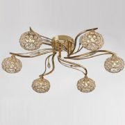 Leimo 6 Light Fitting in French Gold and Crystal - DIYAS IL30966